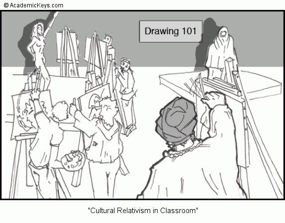 cartoon  cultural relativism  classroom